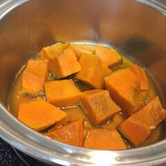 幸せおうちごはん。/おかず/かぼちゃ/煮物/おうちごはん 幸せおうちごはん。 北海道のかぼちゃは、…