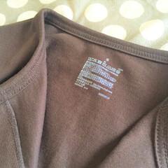衣類/タグ/無印良品/プリント 洋服に付いているタグ。 襟元にあると、首…