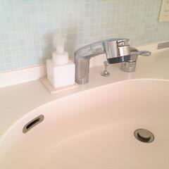 私のおうち自慢。/洗面台/ハンドソープ/掃除がラク/おうち自慢 私のおうち自慢。 洗面台です。 ハンドソ…