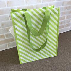 私のお気に入り/イケア/バッグ/グリーンストライプ/図書館/貸出本/... イケアのバッグ。グリーンストライプ。 し…