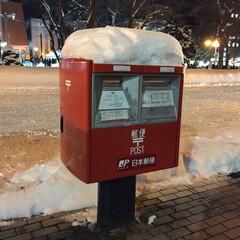 おでかけワンショット。/雪国あるある。/ポスト/雪/おでかけワンショット おでかけワンショット。 郵便ポストが雪の…