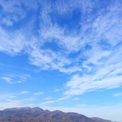 今日の空/山/雲/秋晴れ/快晴/景色 今日の空。 快晴です。 秋晴れとはこうい…