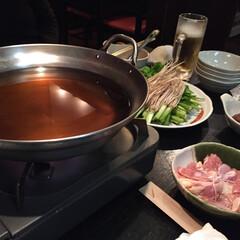 冬の1枚/冬の思い出/仙台名物/セリ鍋/冬 冬の一枚。 仙台名物セリ鍋。 初めて食べ…