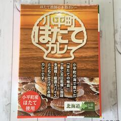 今日のお土産/北海道/小平町/ほたてカレー/ほたて稚貝入り 今日のお土産。 北海道小平町のほたてカレ…