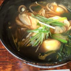 私のご飯。/牡蠣蕎麦/釧路/玉川庵/蕎麦/わたしのごはん 私のご飯。 牡蠣蕎麦、いただきました! …