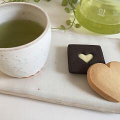 しあわせご飯。/ハートのクッキー/ほっこり/緑茶/わたしのごはん しあわせご飯。 ハートのクッキーが、幸せ…
