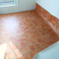 私のDIY。/キッチン/床材張り替え/DIY 私のDIY。 キッチンの床を張り替えまし…(1枚目)