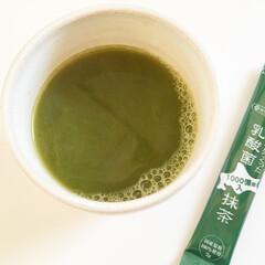 お茶の時間/緑茶/粉末/インスタント/片づけ/抹茶 今日のお茶の時間。 緑茶も粉末タイプで。…