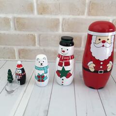 クリスマス2019/マトリョシカ/サンタ/スノーマン/クマ/ペンギン/... クリスマス2019。 サンタさんのマトリ…