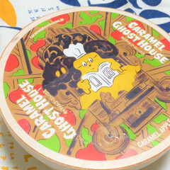 こんがりグルメ/キャラメルゴーストハウス/アップルケーキ お土産でいただいたケーキ。 イラストがカ…
