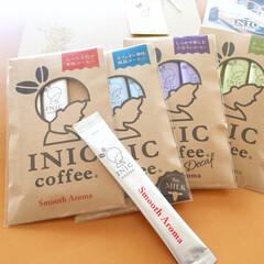 美味しいモノ/INICコーヒー/お試しパック/パッケージ/カワイイ 今日の美味しいモノ。 INICコーヒー。…