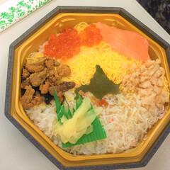 おでかけワンショット/駅弁/旅のお供/海鮮ちらし寿司 おでかけワンショット。 列車の旅のお供に…
