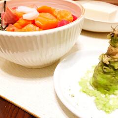 幸せおうちごはん。/ワサビ/海鮮丼/おうちごはん 幸せおうちごはん。 天然のワサビを贅沢に…