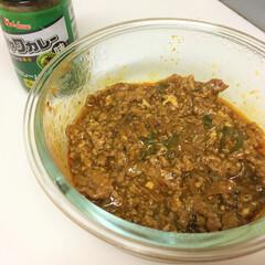 おうちごはん/リメイク料理/麻婆豆腐/カレー味/キーマカレー 今日のおうちごはん。 リメイク料理にしま…