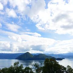 旅の景色。/北海道/洞爺湖/中島/ドライブ/旅 旅の景色。 北海道の洞爺湖にて。 中島を…(1枚目)