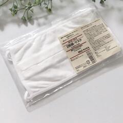 無印/夏マスク/マスク/シンプルライフ/シンプル/無印良品 無印良品のムラ糸天竺編みの夏マスクをやっ…