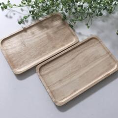 ACACIA 木製 ウッドプレート S グレイ AA-001GY | マークスインターナショナル(皿)を使ったクチコミ「アカシアの木製プレートです。サイズはSサ…」