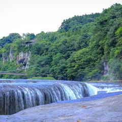 吹割の滝/滝/自然/景色/風景/旅行/... お父さんと一泊二日の旅行で普段行くこと、…