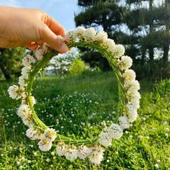 手作りアクセ 小さい女の子たちが花冠作ってて、 作って…