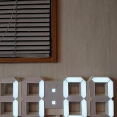 寝室/洋室/大型/LED/壁掛け時計/男前 この間、リビングにLEDのデジタル時計を…