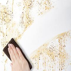 掃除/油汚れ/壁面/壁面シート/キッチンパネル/壁/... シート表面をフッ素コートしているので、油…