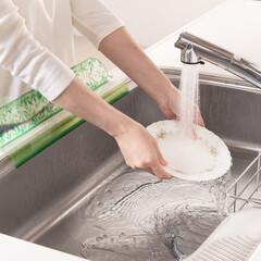 シンクプレート/東洋アルミ/シンク/流し/洗い物/皿洗い/... シンクプレート緑は、さわやかな雰囲気♪