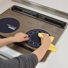 IHマット/IHコンロ/IH/コンロ/コンロ掃除/キッチン掃除/... IHコンロが汚れる代わりに、マットは汚れ…