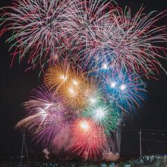 花火大会/祭り/花火/京都/夏のお気に入り 亀岡の花火大会。 大好きな場所です。(1枚目)