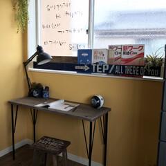 Weekend Workshop スチールテーブル脚 黒 WTK-1 36010-4 | 平安伸銅工業(壁面システム収納)を使ったクチコミ「娘の部屋にスマートな勉強机を作りました♬…」