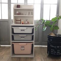 カラーボックス収納/カラーボックスリメイク/ニトリカラーボックス/おもちゃ収納/子供部屋/DIY/... ニトリのカラーボックスにひと手間かけてデ…