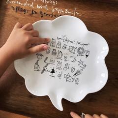 子供食器/食器/グルメ/フード/キッチン/キッチン雑貨 らくがき屋gamiちゃんのイラストのお皿…