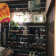 ラブリコ/玄関収納/玄関DIY/リミアな暮らし 玄関に収納をと考えて壁一面を現状回復でき…