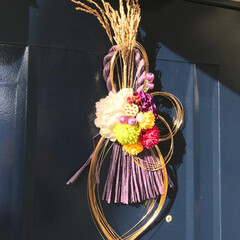 しめ縄/お正月/2020/玄関/お正月飾り/手作り/... しめ縄を作ってみました(*^▽^*) お…