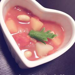 みんな大好き/ほっこり/彩り鮮やか/野菜たっぷり/ご飯/朱色/... 彩り鮮やか野菜たっぷりミネストローネ♡