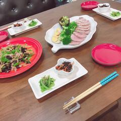 おうちでお店気分/おうちごはん 外食自粛で雰囲気外食な感じで(^^)豚モ…