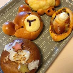 ハーフバースデー/トイプードル/愛犬/七夕/パン/朝食 昨日、パン屋さんでみつけた かわいーパン…