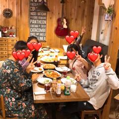 爆笑/賑やか/お友達と/夕飯 昨日は3家族で一緒に夕飯を食べました(*…