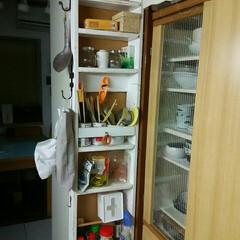 台所DIY/キッチン収納 台所DIY 調理用品ひとまとめ🎵