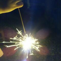 花火 今年最初の花火🎵 孫たちが泊まりにきたの…
