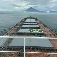 富士山 富士山🎵 駿河湾の海の上から撮影、 船乗…