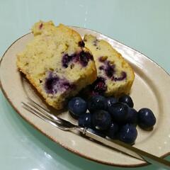 ブルーベリーケーキ ブルーベリーケーキ🎵 ムスメにブルーベリ…
