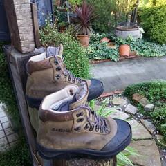 登山 登山靴🎵 防水スプレータップリと、 あと…