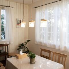 ペンダントライト 北欧 おしゃれ 照明 キッチン Klan クラン 3灯 キャニスター ダイニング ナチュラル 木目調 カントリー インテリア 雑貨 LED(ペンダントライト)を使ったクチコミ「ほっと、一息。 カフェタイムのあるお家☕…」