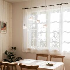 ペンダントライト 北欧 おしゃれ 照明 ダイニング 照明器具 キューブLED 4灯 Cube LED 天井照明 クリスタル ガラス キッチン カウンター シンプル モダン(ペンダントライト)を使ったクチコミ「見慣れたいつもの場所を ちょっと贅沢な空…」
