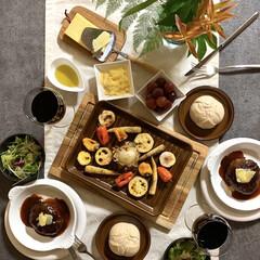フード/我が家のテーブル/テーブルフォト/食事/手作り/野菜/... 我が家のテーブル  野菜のオーブン焼きが…