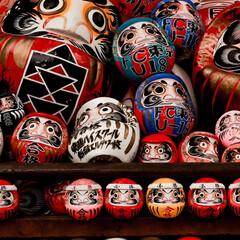 群馬県/おでかけワンショット 群馬県高崎市にある達磨寺の達磨たちです …
