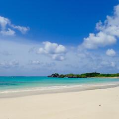宮古島/浜辺/おでかけワンショット たまたま訪れた、宮古島の渡口の浜付近にあ…