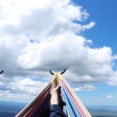 写真/風景/おでかけワンショット 大山登ったらハンモックあった! 暑いけど…