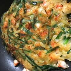 食事情 最近ハマってる海老ニラチヂミ
