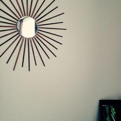 鏡/割り箸/100均/DIY/暮らし 100均の割り箸に色塗って、 100均の…